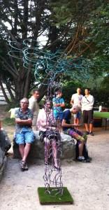 Patrick Dupont et sa sculpture juillet 2013 Nuit des arts